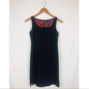 Square Neck Classic Little Black Dress